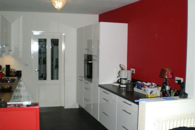 Plaatsen moderne keuken